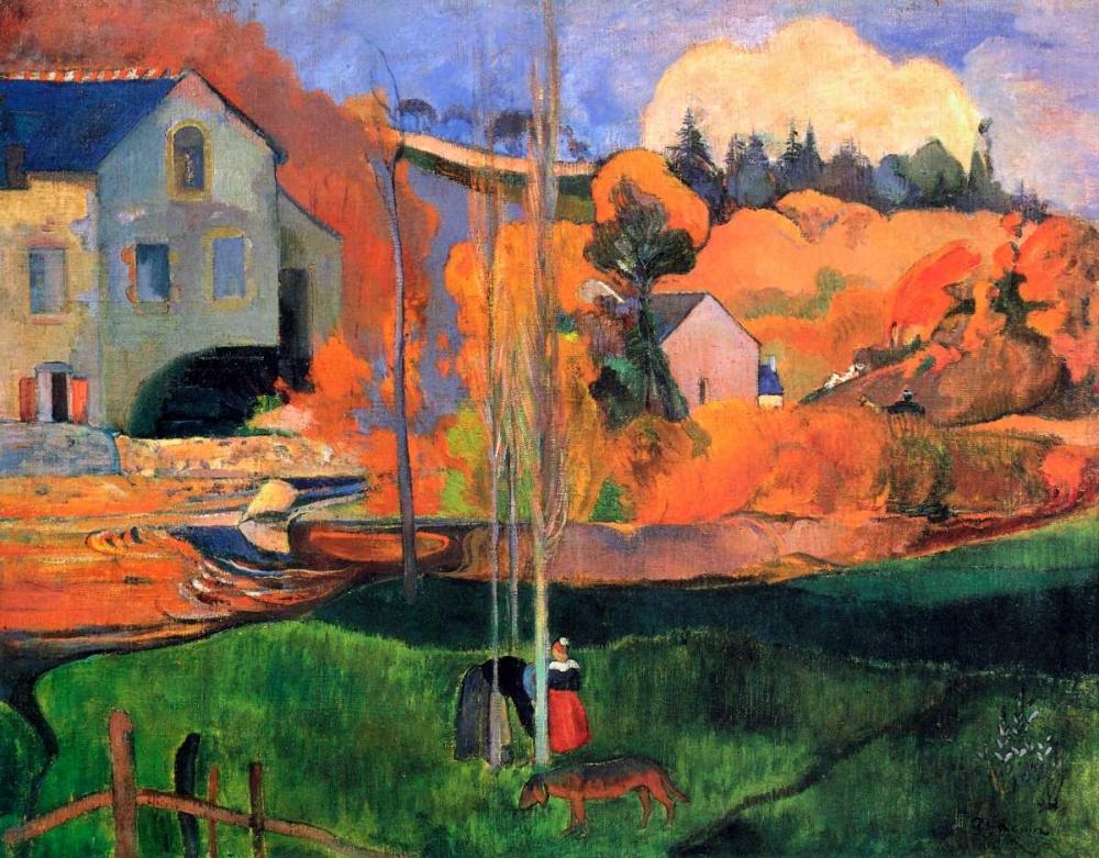 konfigurieren des Kunstdrucks in Wunschgröße Britany Landscape von Gauguin, Paul