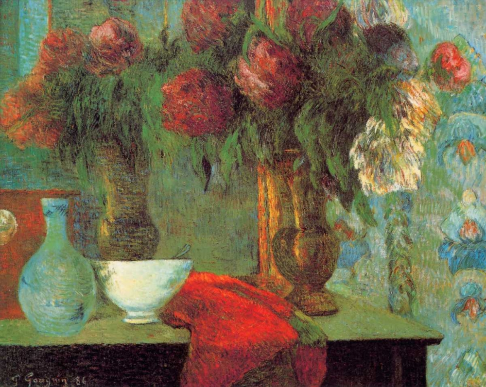 konfigurieren des Kunstdrucks in Wunschgröße The White Bowl von Gauguin, Paul