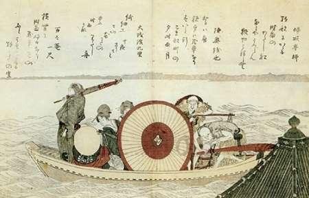konfigurieren des Kunstdrucks in Wunschgröße A Ferry On Sumida River 1802 von Hokusai