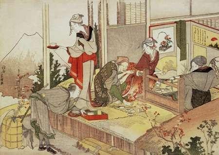konfigurieren des Kunstdrucks in Wunschgröße A Netsuke Workshop 1798 von Hokusai
