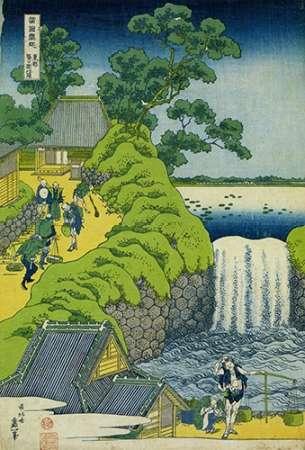 konfigurieren des Kunstdrucks in Wunschgröße A View Of Aoigaoka Waterfall In Edo von Hokusai