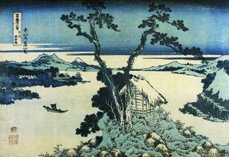 konfigurieren des Kunstdrucks in Wunschgröße A View Of Mount Fuji Across Lake Suwa In Shinano Province 1831 von Hokusai