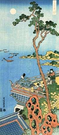 konfigurieren des Kunstdrucks in Wunschgröße Abe No Nakamaro Gazing At The Moon von Hokusai