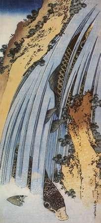konfigurieren des Kunstdrucks in Wunschgröße Carp In A Waterfall von Hokusai