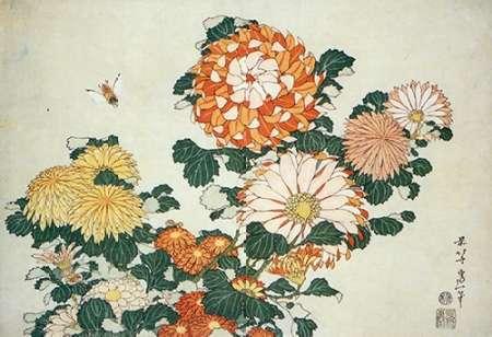 konfigurieren des Kunstdrucks in Wunschgröße Museumysanthemum And Bee von Hokusai