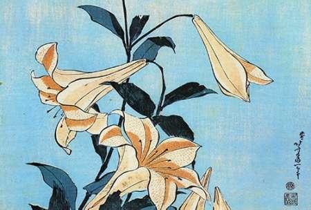 konfigurieren des Kunstdrucks in Wunschgröße Lilies von Hokusai