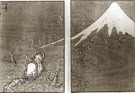 konfigurieren des Kunstdrucks in Wunschgröße Mount Fuji And A Dragon von Hokusai