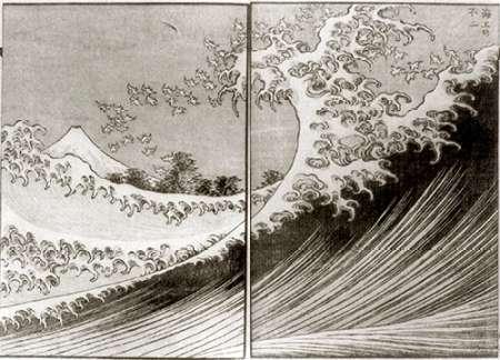 konfigurieren des Kunstdrucks in Wunschgröße Mount Fuji Seen Above The Waves von Hokusai