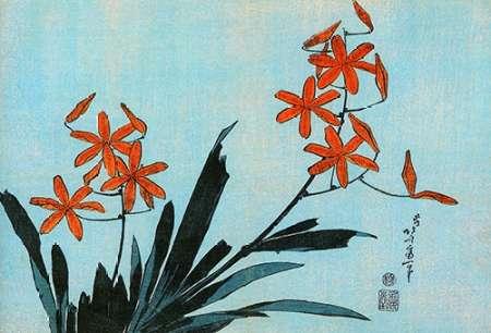 konfigurieren des Kunstdrucks in Wunschgröße Orange Orchids von Hokusai