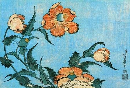 konfigurieren des Kunstdrucks in Wunschgröße Poppies von Hokusai