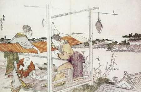 konfigurieren des Kunstdrucks in Wunschgröße Stretching Cloth von Hokusai