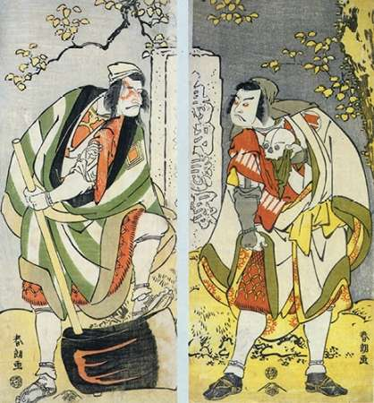 konfigurieren des Kunstdrucks in Wunschgröße The Actors Ichikawa Ebizo And Sakata Hangoro von Hokusai