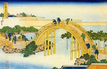 konfigurieren des Kunstdrucks in Wunschgröße The DMaps Bridge At Kameido Shrine von Hokusai