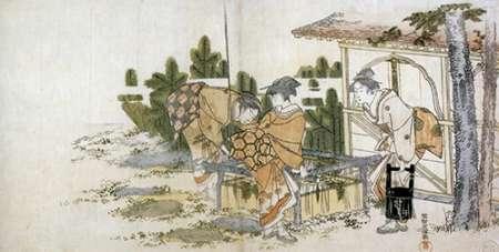 konfigurieren des Kunstdrucks in Wunschgröße Three Ladies By A Well 1795 von Hokusai