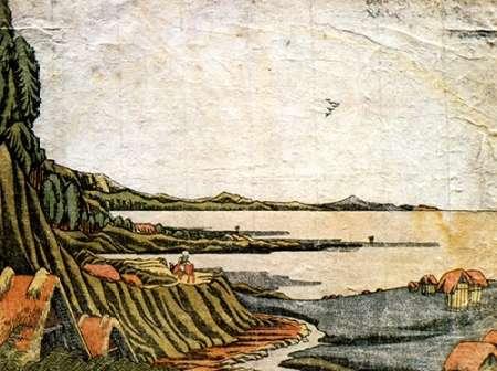 konfigurieren des Kunstdrucks in Wunschgröße View At Gyotoku von Hokusai