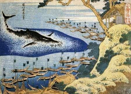 konfigurieren des Kunstdrucks in Wunschgröße Whaling Off The Goto Islands von Hokusai