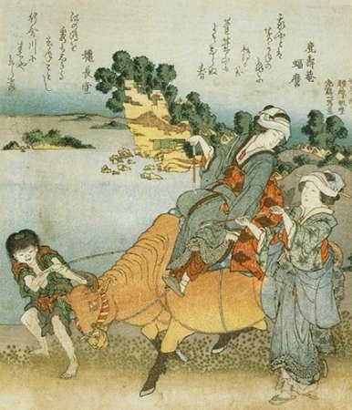konfigurieren des Kunstdrucks in Wunschgröße Women On The Beach At Enoshima II von Hokusai