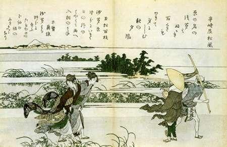 konfigurieren des Kunstdrucks in Wunschgröße Women Struggling In The Wind 1802 von Hokusai