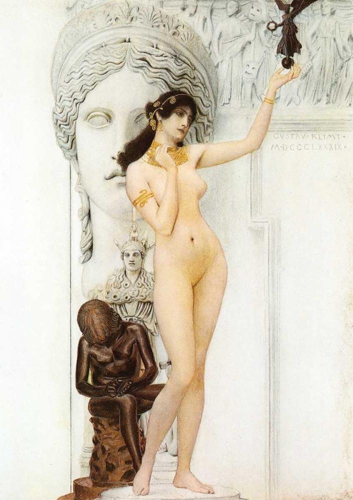 konfigurieren des Kunstdrucks in Wunschgröße Allegory Of Sculpture 1889 von Klimt, Gustav