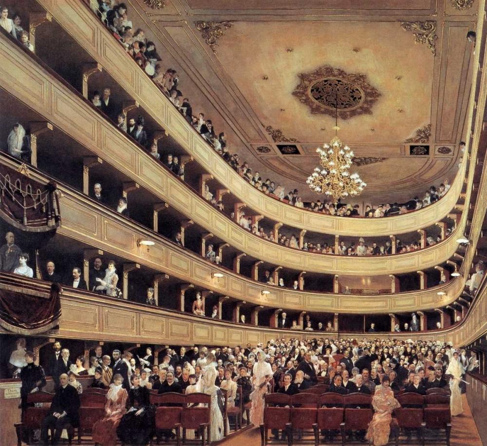 konfigurieren des Kunstdrucks in Wunschgröße Auditorium Of The Old Burgtheater 1888 von Klimt, Gustav