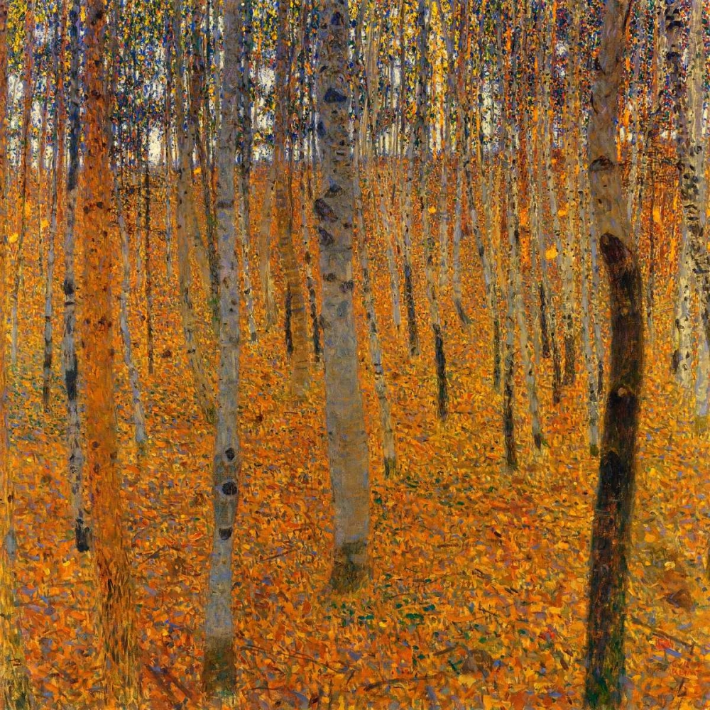 landscapes and scenery,forests and woods,Landscape,Nature,,,,373311,Beech Forest I 1902,Klimt, Gustav,Square