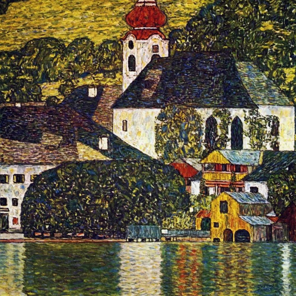 konfigurieren des Kunstdrucks in Wunschgröße Church At Unterach On The Attersee von Klimt, Gustav