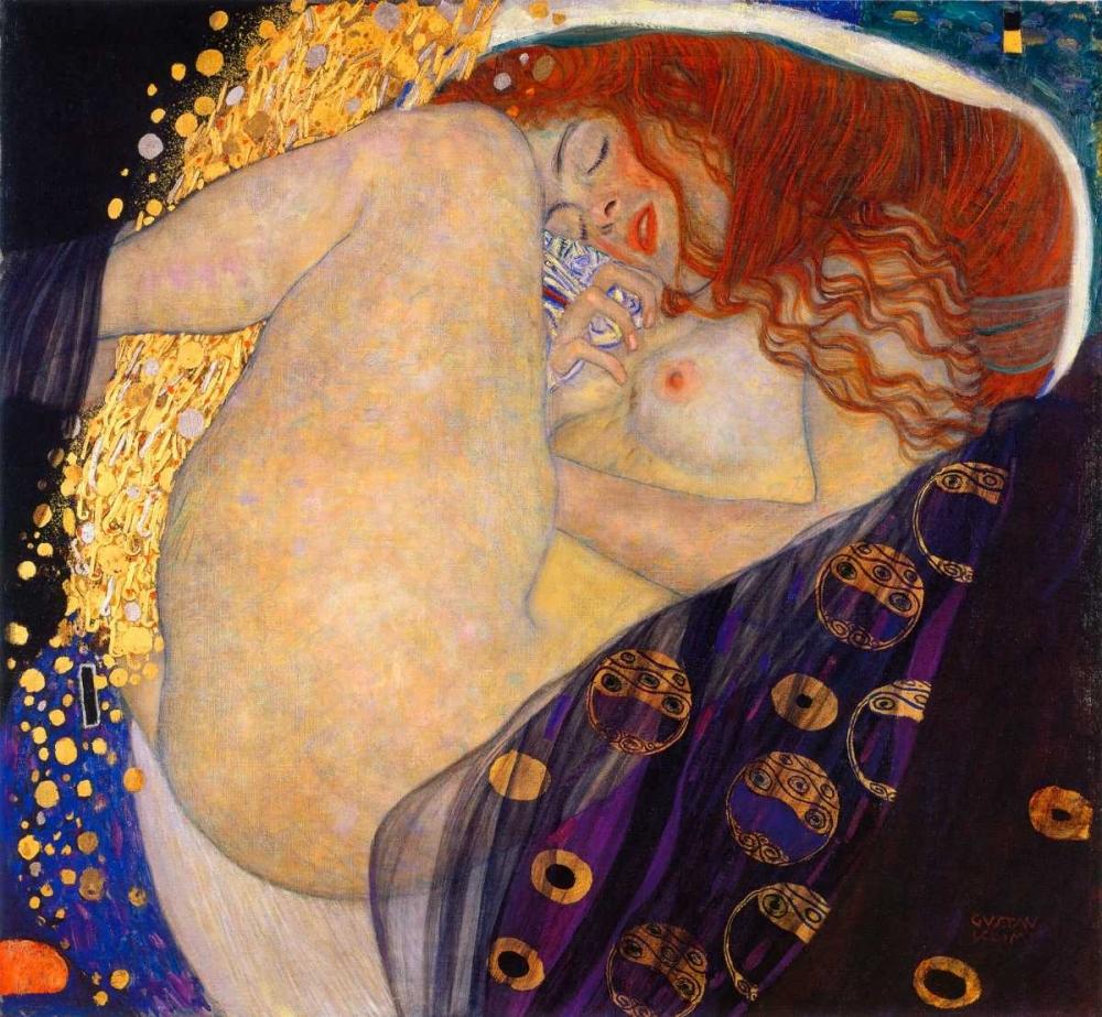 konfigurieren des Kunstdrucks in Wunschgröße Danae 1908 von Klimt, Gustav