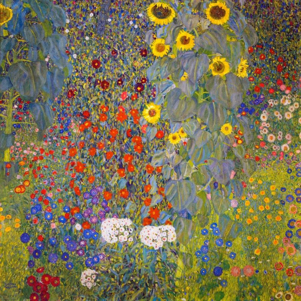 konfigurieren des Kunstdrucks in Wunschgröße Farm Garden With Sunflowers von Klimt, Gustav