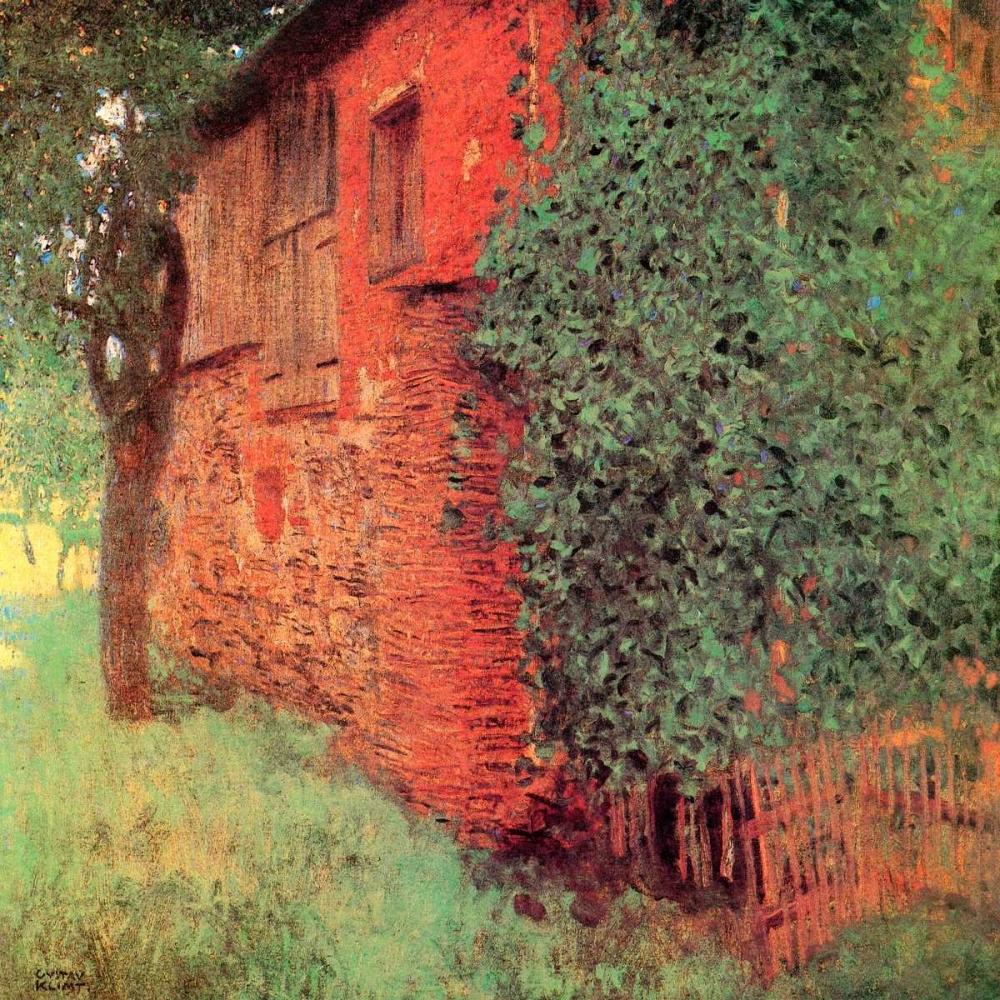 konfigurieren des Kunstdrucks in Wunschgröße Farmhouse At Kammer von Klimt, Gustav