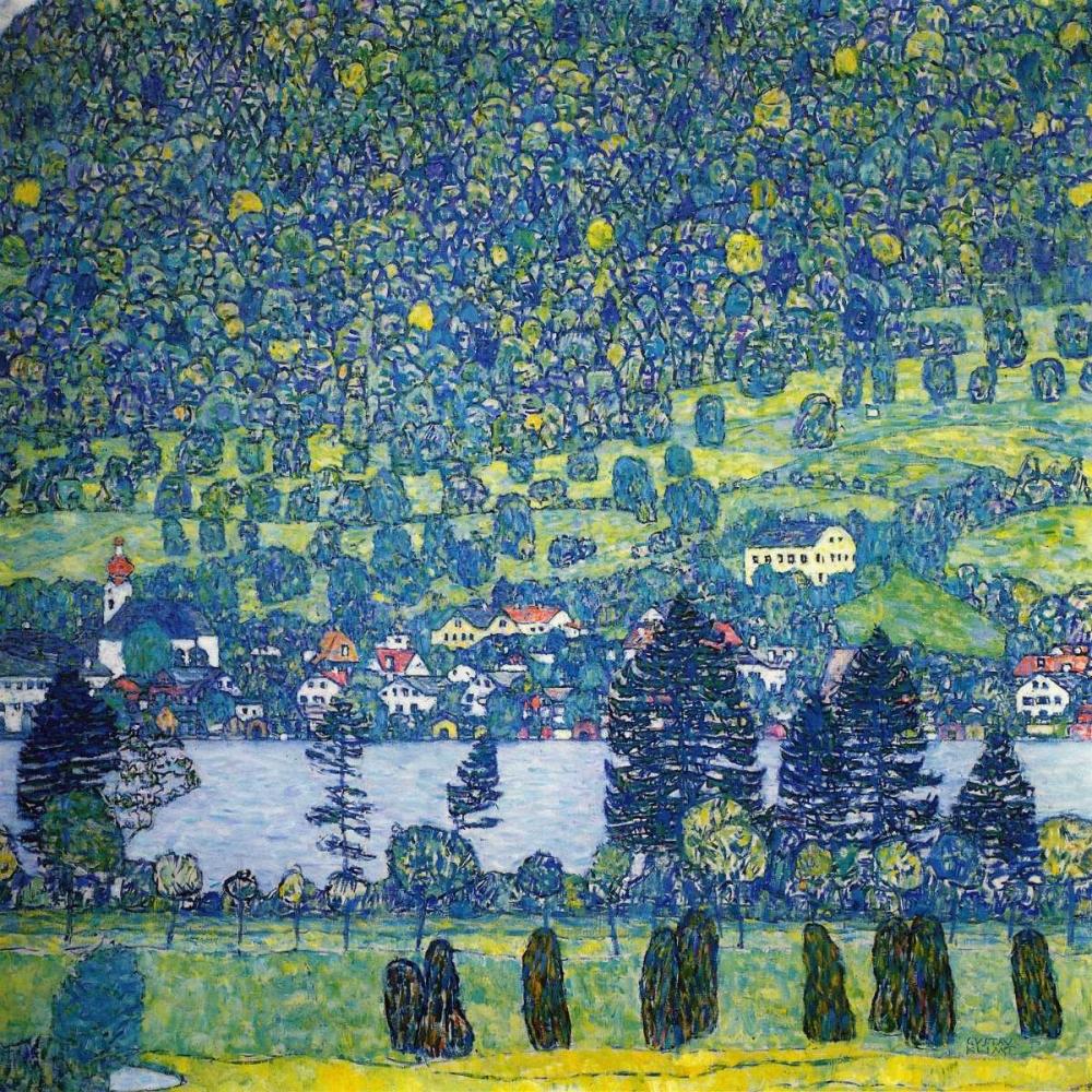 konfigurieren des Kunstdrucks in Wunschgröße Forest Slope In Unterach On The Attersee 1917 von Klimt, Gustav