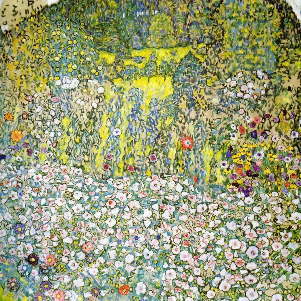 konfigurieren des Kunstdrucks in Wunschgröße Garden Landscape With Hilltop 1916 von Klimt, Gustav
