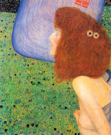 konfigurieren des Kunstdrucks in Wunschgröße Girl With Blue Veil 1903 von Klimt, Gustav