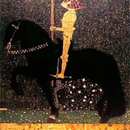 konfigurieren des Kunstdrucks in Wunschgröße Golden Knight von Klimt, Gustav