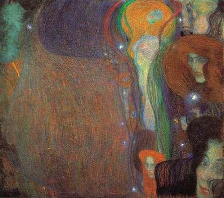 konfigurieren des Kunstdrucks in Wunschgröße Irrlichter 1903 von Klimt, Gustav