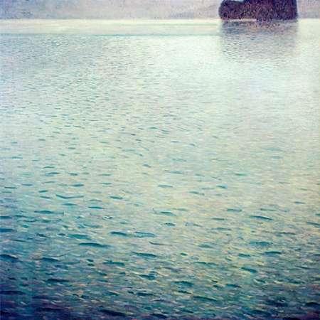 konfigurieren des Kunstdrucks in Wunschgröße Island In Lake Atter von Klimt, Gustav