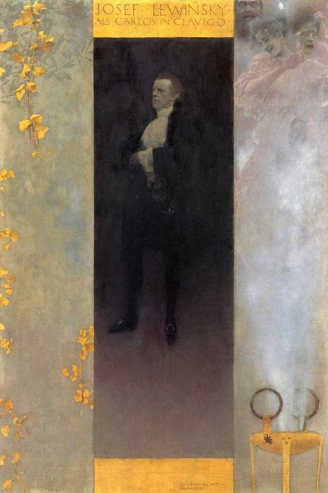 konfigurieren des Kunstdrucks in Wunschgröße Josef Lewinsky 1895 von Klimt, Gustav