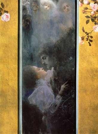 konfigurieren des Kunstdrucks in Wunschgröße Love 1895 von Klimt, Gustav