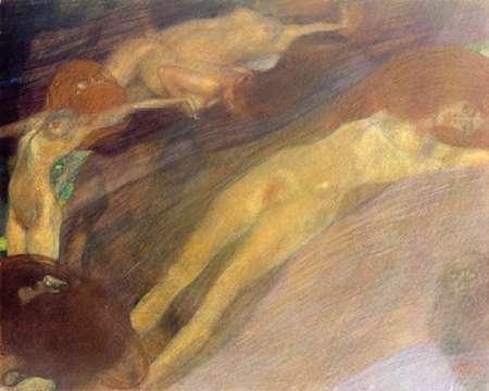 konfigurieren des Kunstdrucks in Wunschgröße Moving Water 1898 von Klimt, Gustav
