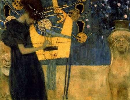 konfigurieren des Kunstdrucks in Wunschgröße Music I von Klimt, Gustav