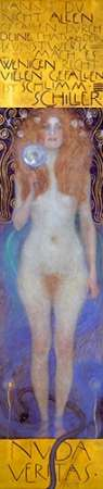 konfigurieren des Kunstdrucks in Wunschgröße Nuda Veritas 1899 von Klimt, Gustav