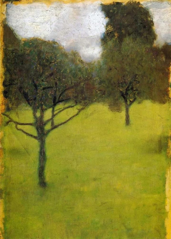 konfigurieren des Kunstdrucks in Wunschgröße Orchard 1898 von Klimt, Gustav