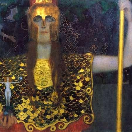 konfigurieren des Kunstdrucks in Wunschgröße Pallas Athena 1898 von Klimt, Gustav