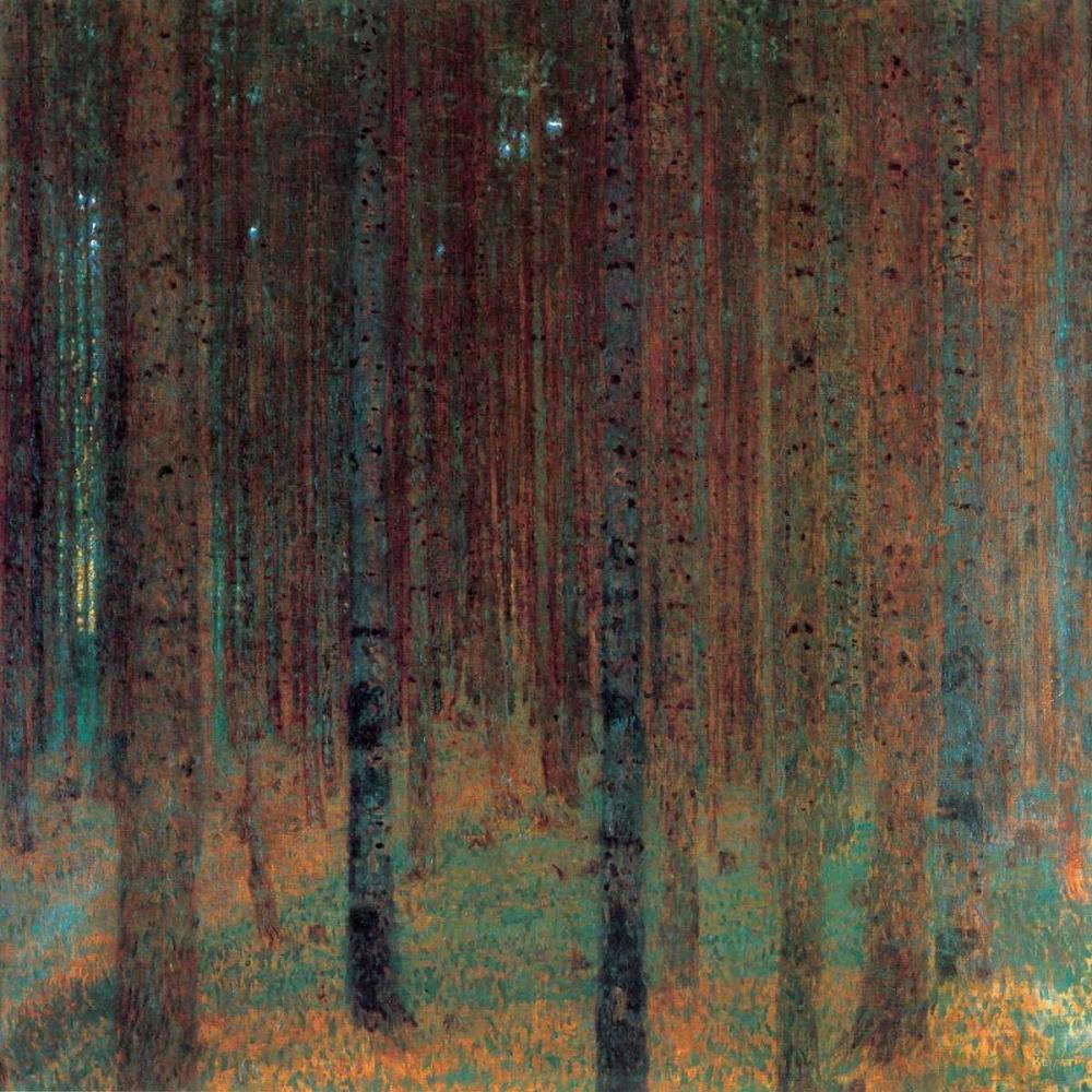 konfigurieren des Kunstdrucks in Wunschgröße Pine Forest II 1901 von Klimt, Gustav