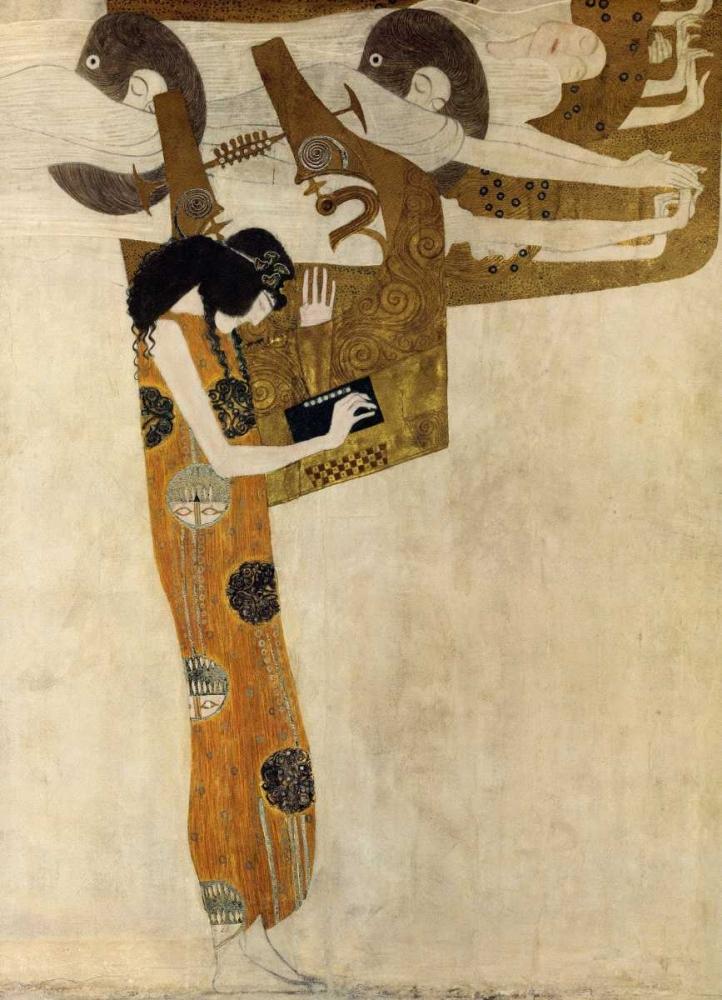 konfigurieren des Kunstdrucks in Wunschgröße Poesie von Klimt, Gustav