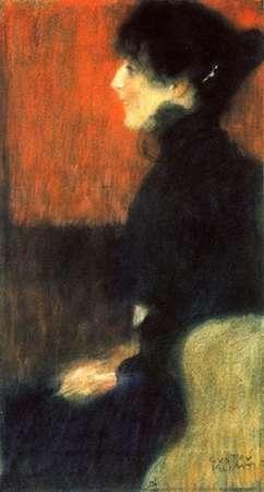 konfigurieren des Kunstdrucks in Wunschgröße Portrait Of A Lady 1898 von Klimt, Gustav