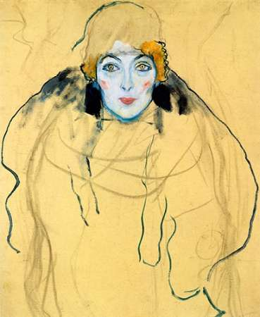 konfigurieren des Kunstdrucks in Wunschgröße Portrait Of A Woman 1918 von Klimt, Gustav