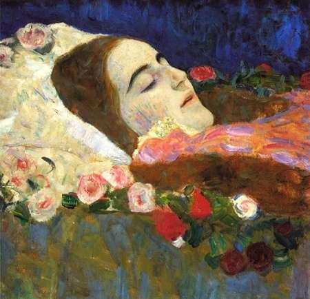 konfigurieren des Kunstdrucks in Wunschgröße Ria Munk On Her Deatbed 1912 von Klimt, Gustav