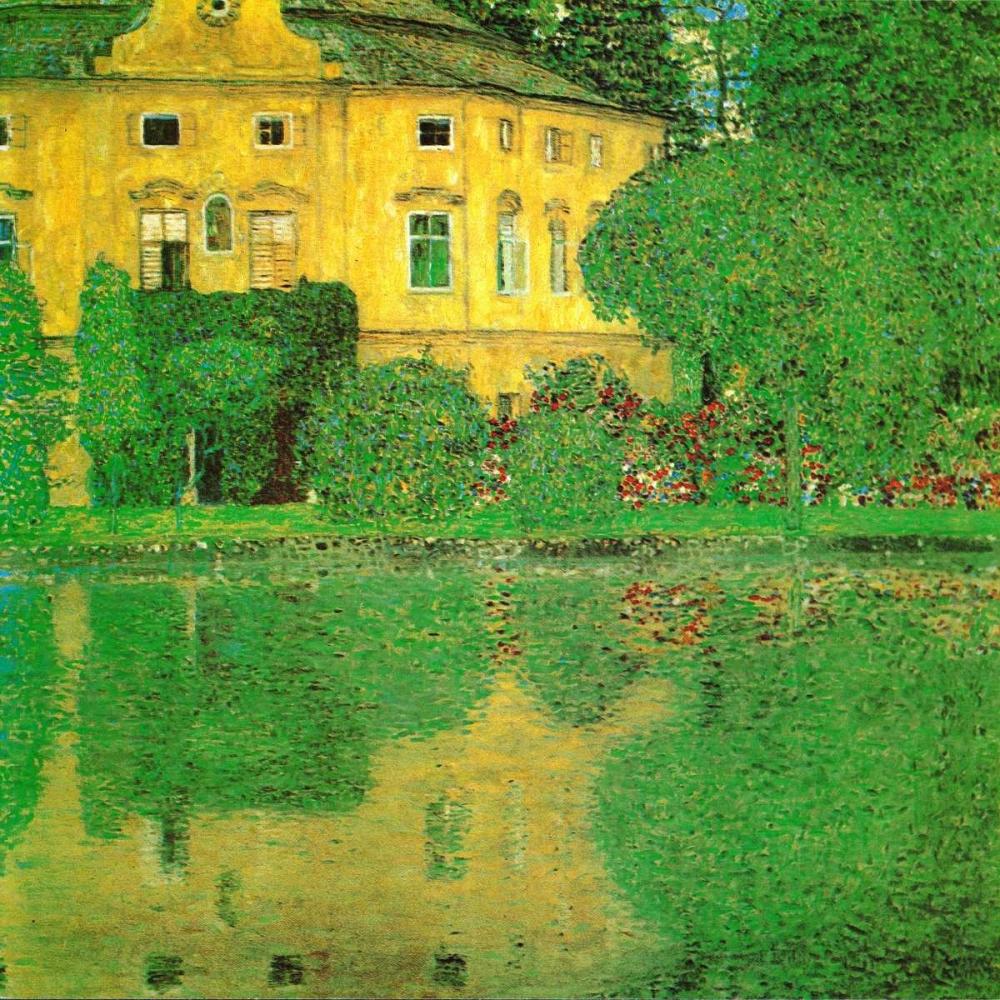 konfigurieren des Kunstdrucks in Wunschgröße Schloss Kammer On Attersee - 2 von Klimt, Gustav