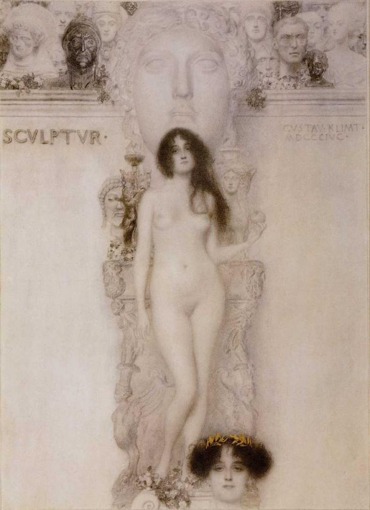 konfigurieren des Kunstdrucks in Wunschgröße Sculpture 1896 von Klimt, Gustav