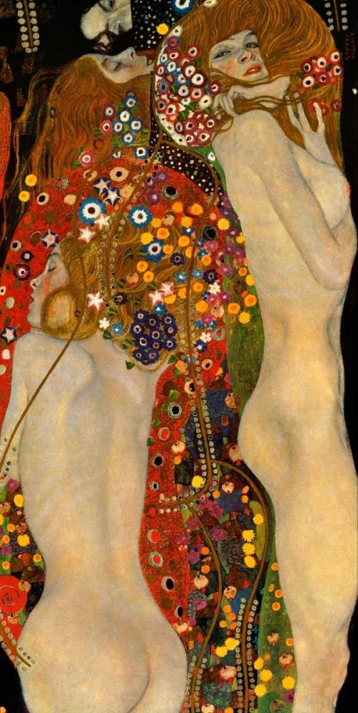 konfigurieren des Kunstdrucks in Wunschgröße Sea Serpents VI von Klimt, Gustav